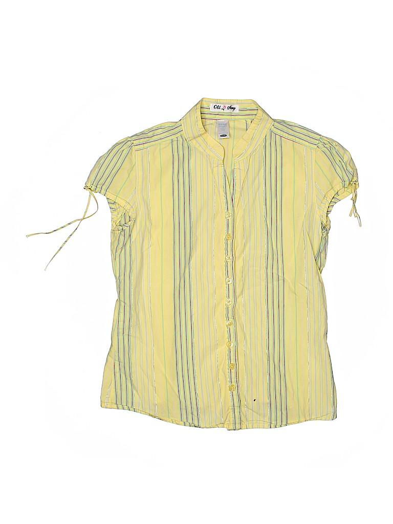 Old Navy Girls Short Sleeve Button-Down Shirt Size 10