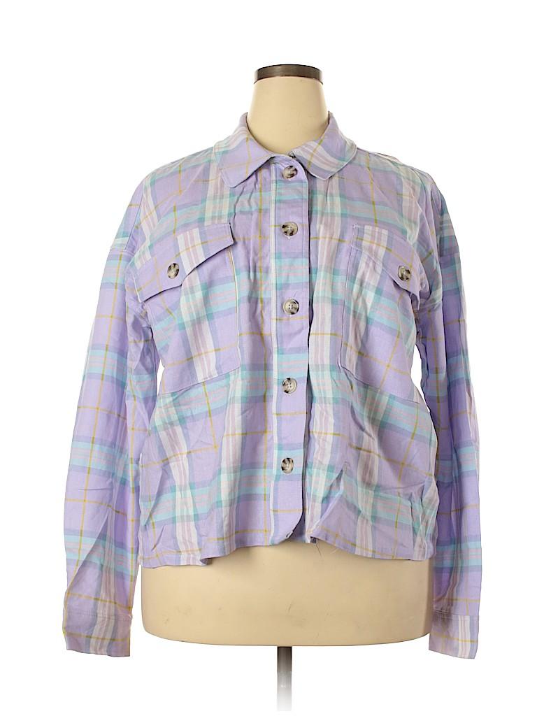 Wild Fable Women Long Sleeve Button-Down Shirt Size XXL