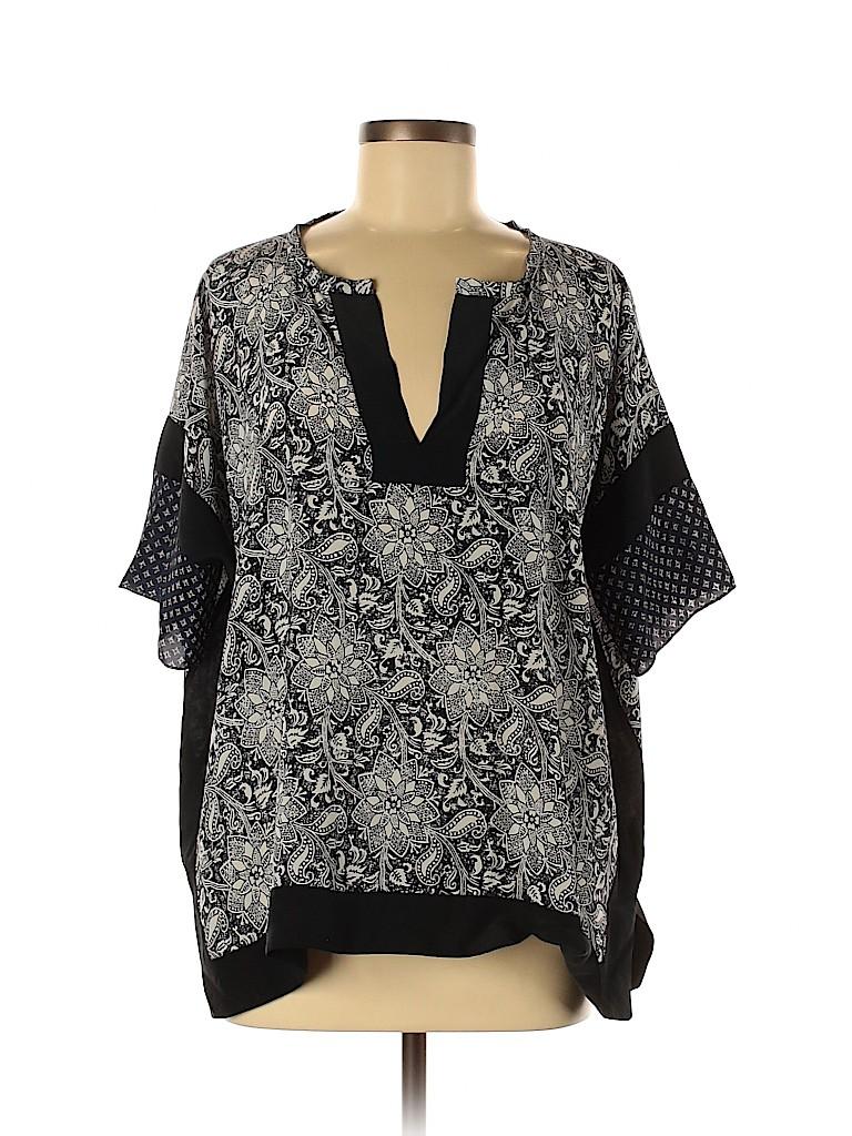 Rebecca Taylor Women Short Sleeve Silk Top Size 8