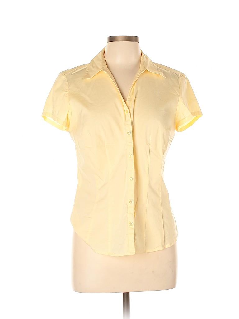 Ann Taylor LOFT Women Short Sleeve Button-Down Shirt Size 10