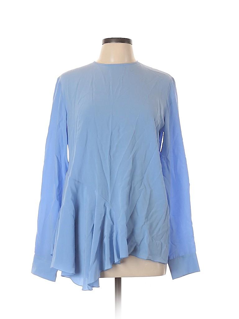 Stella McCartney Women Long Sleeve Silk Top Size 44 (EU)