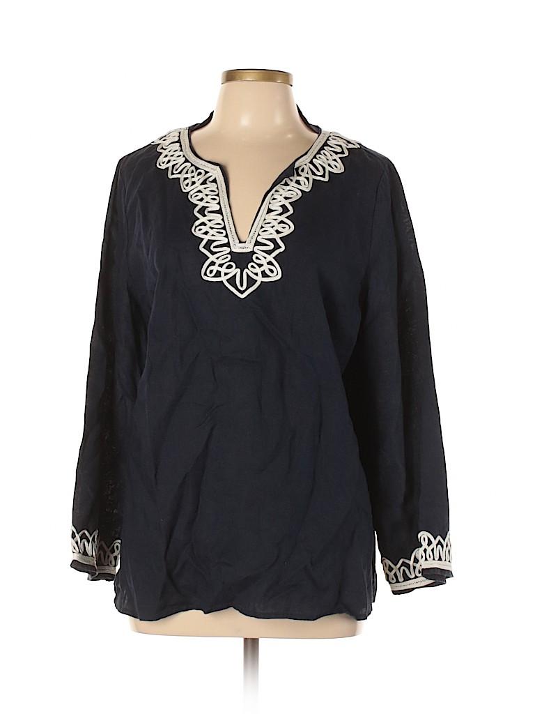 Talbots Women 3/4 Sleeve Blouse Size L