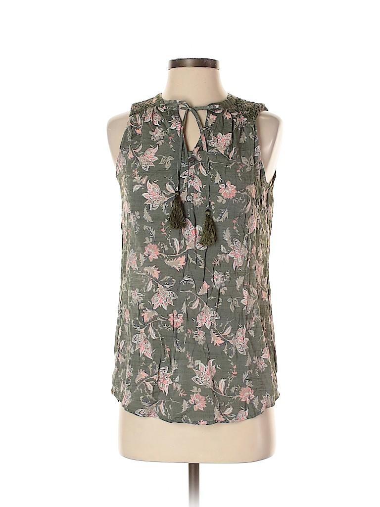 St. John's Bay Women Sleeveless Blouse Size S