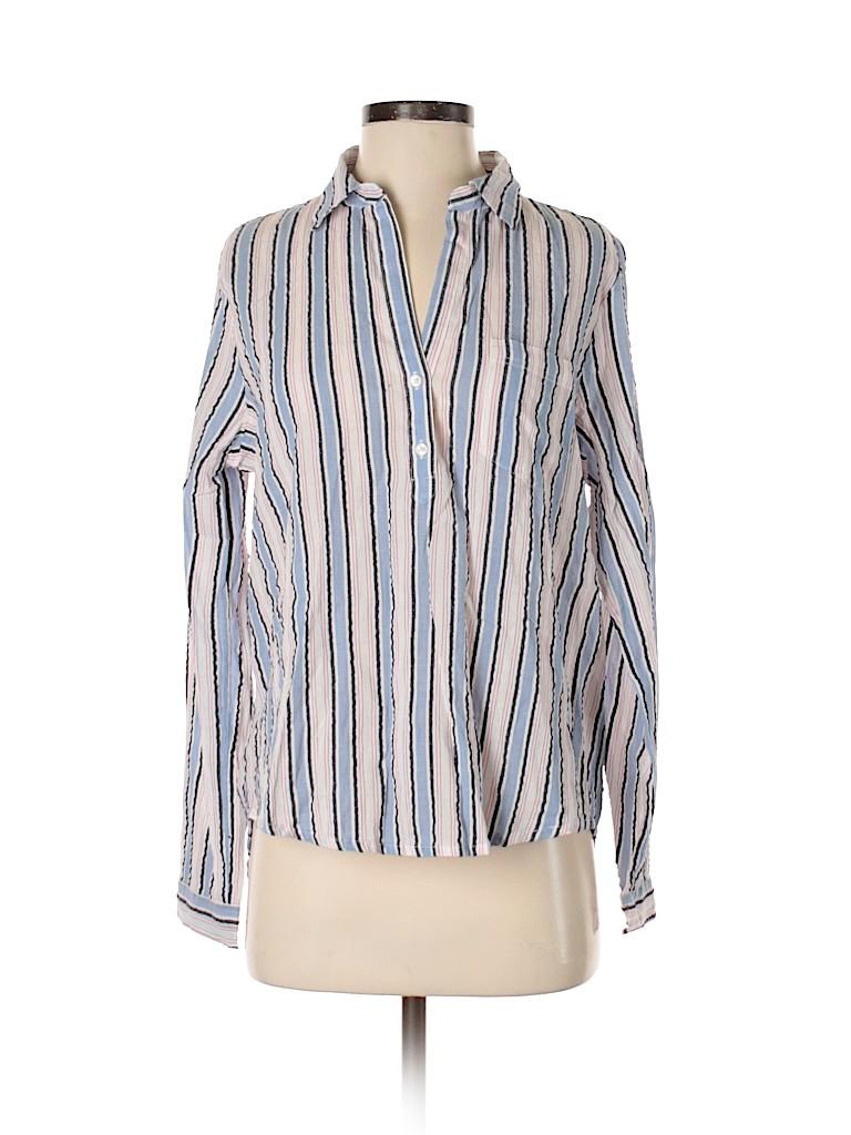J.Crew Mercantile Women Long Sleeve Button-Down Shirt Size S