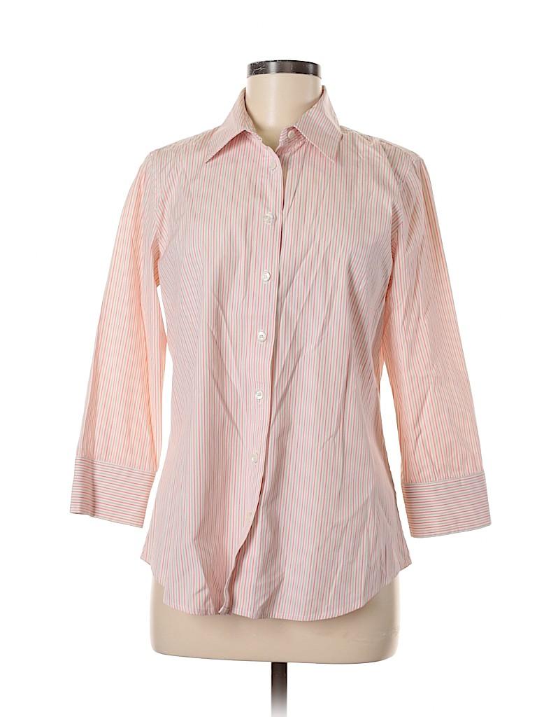 Haberdashery for J. Crew Women Long Sleeve Button-Down Shirt Size M