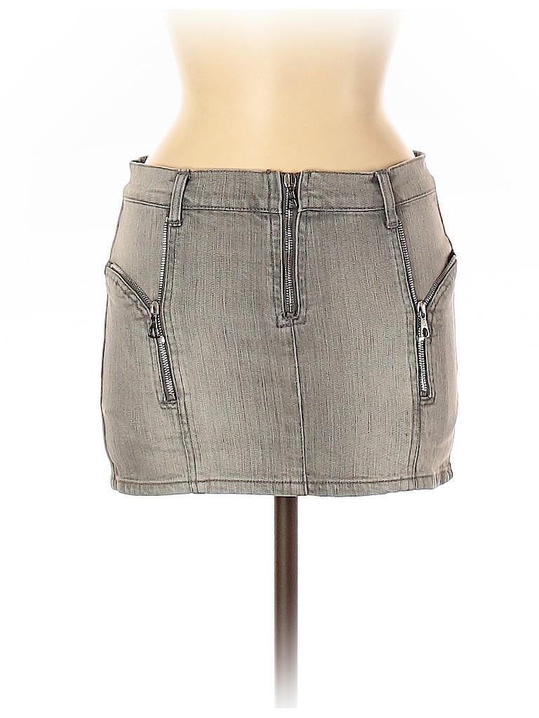 McQ Alexander McQueen Women Denim Skirt Size 40 (EU)