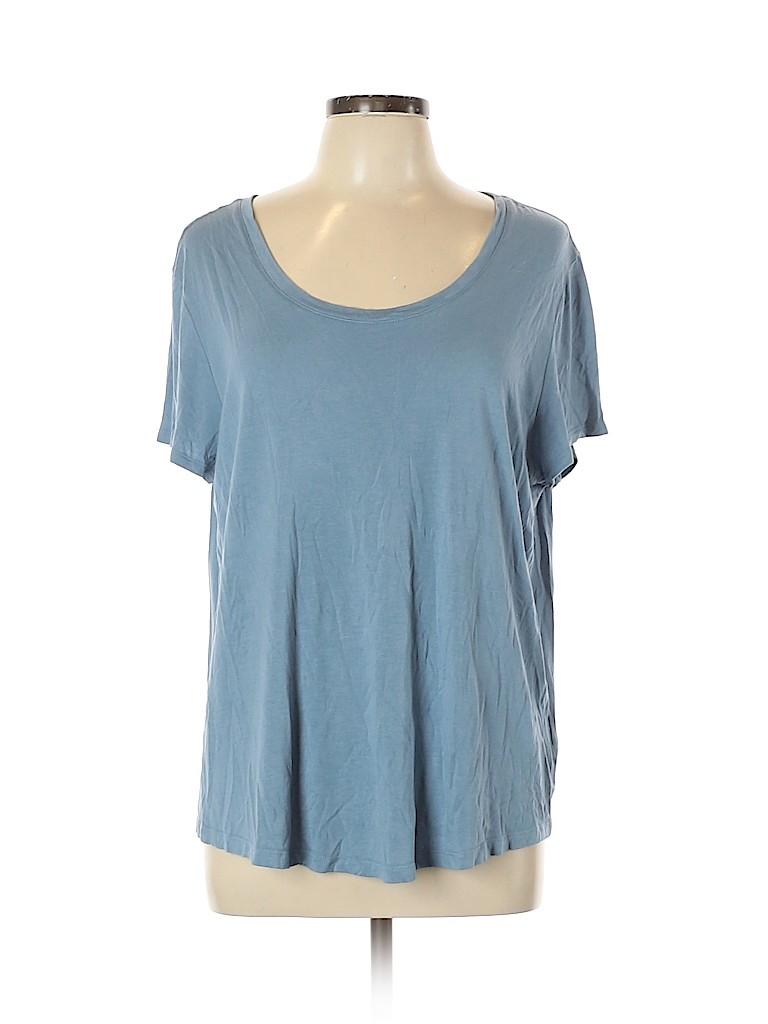 Maison Jules Women Short Sleeve T-Shirt Size XL