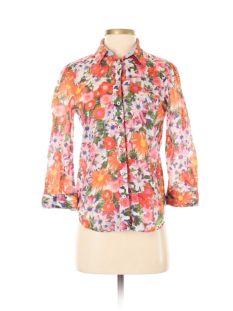 HD in Paris Women 3/4 Sleeve Button-Down Shirt Size 00
