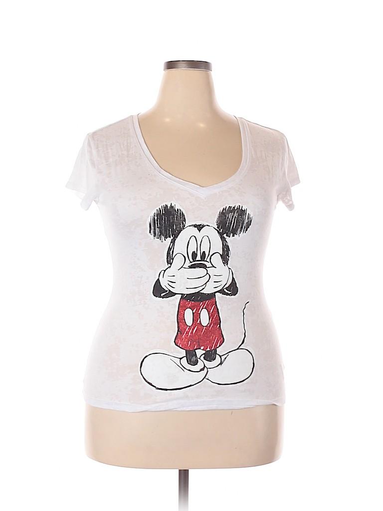 Disney Women Short Sleeve T-Shirt Size XXL