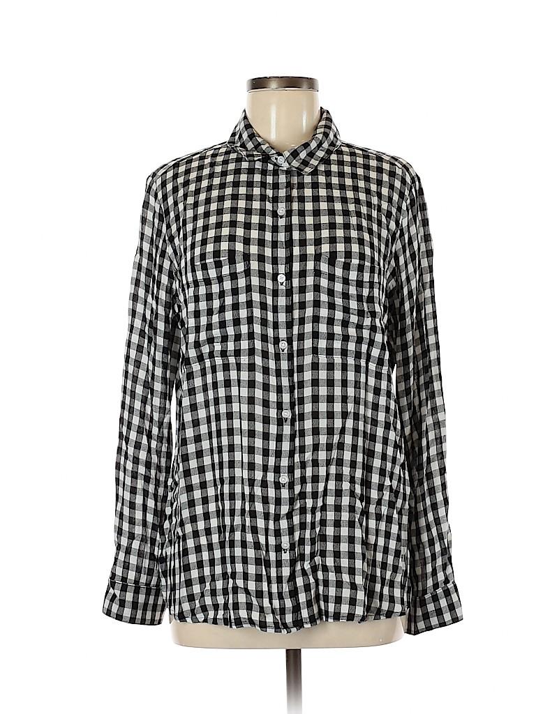BP. Women Long Sleeve Button-Down Shirt Size L