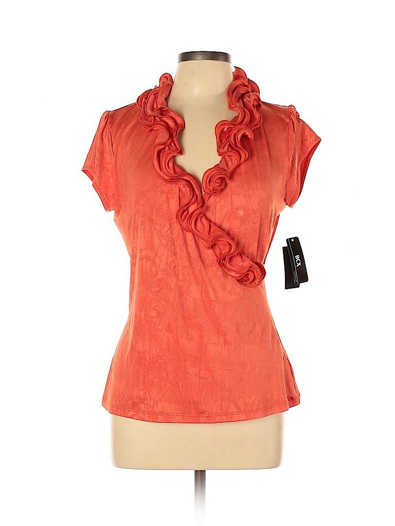 BCX Women Short Sleeve Blouse Size XL