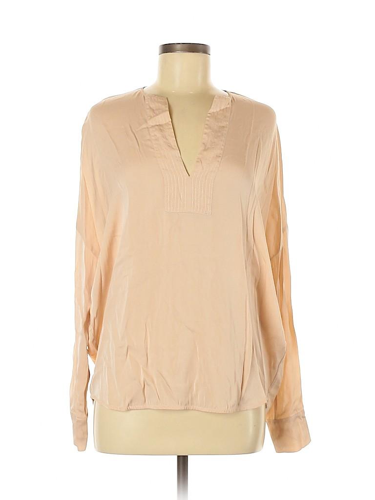 Vince. Women Long Sleeve Silk Top Size S