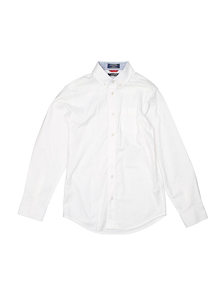 IZOD Boys Long Sleeve Button-Down Shirt Size 10/12