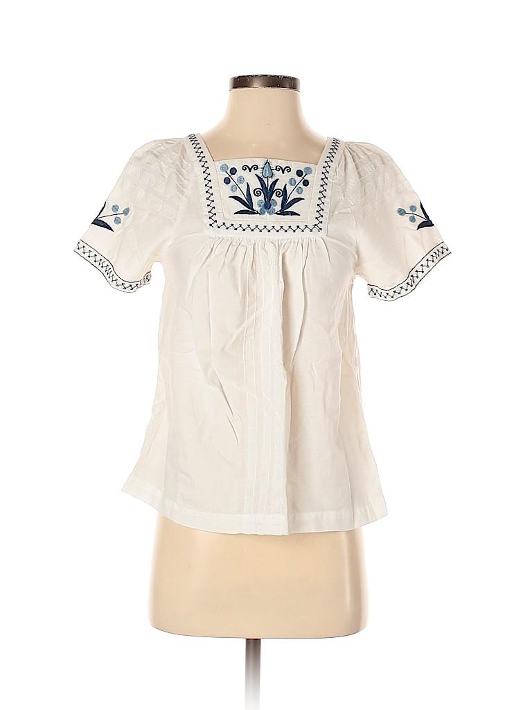 Madewell Women Short Sleeve Blouse Size XS
