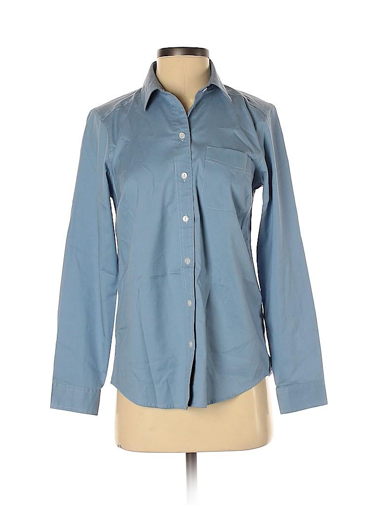 Eddie Bauer Women Long Sleeve Button-Down Shirt Size XS