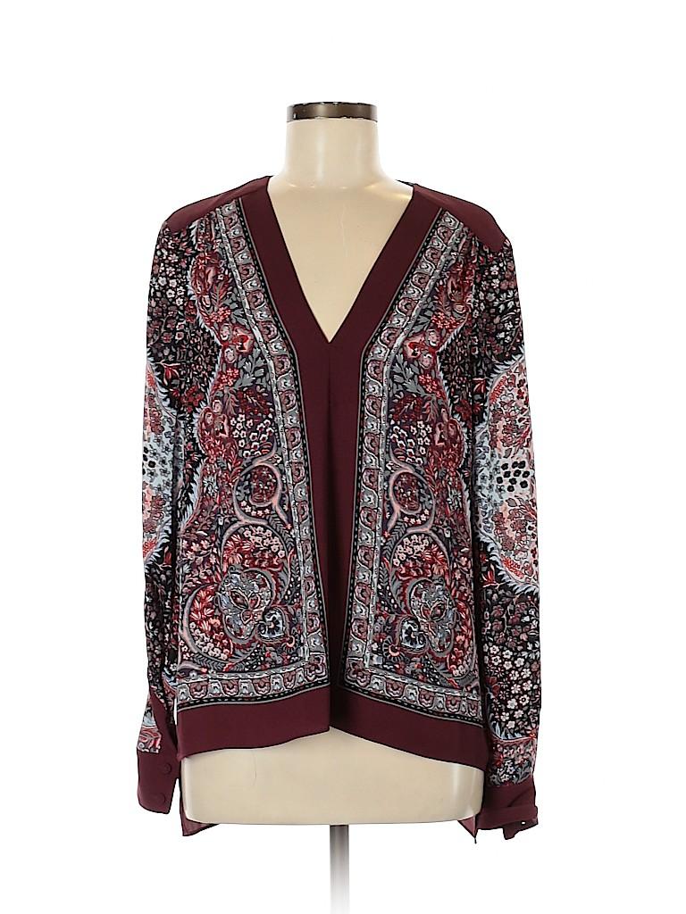 BCBGMAXAZRIA Women Long Sleeve Blouse Size M