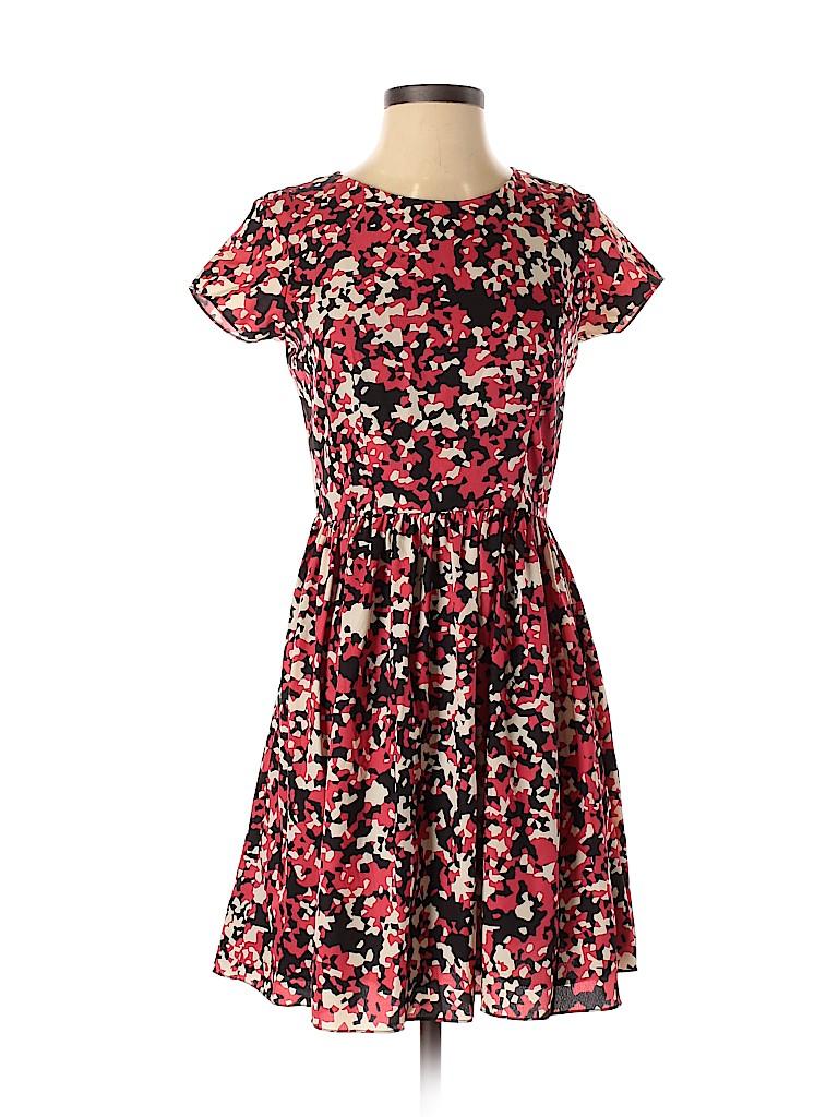 Red Saks Fifth Avenue Women Casual Dress Size XS