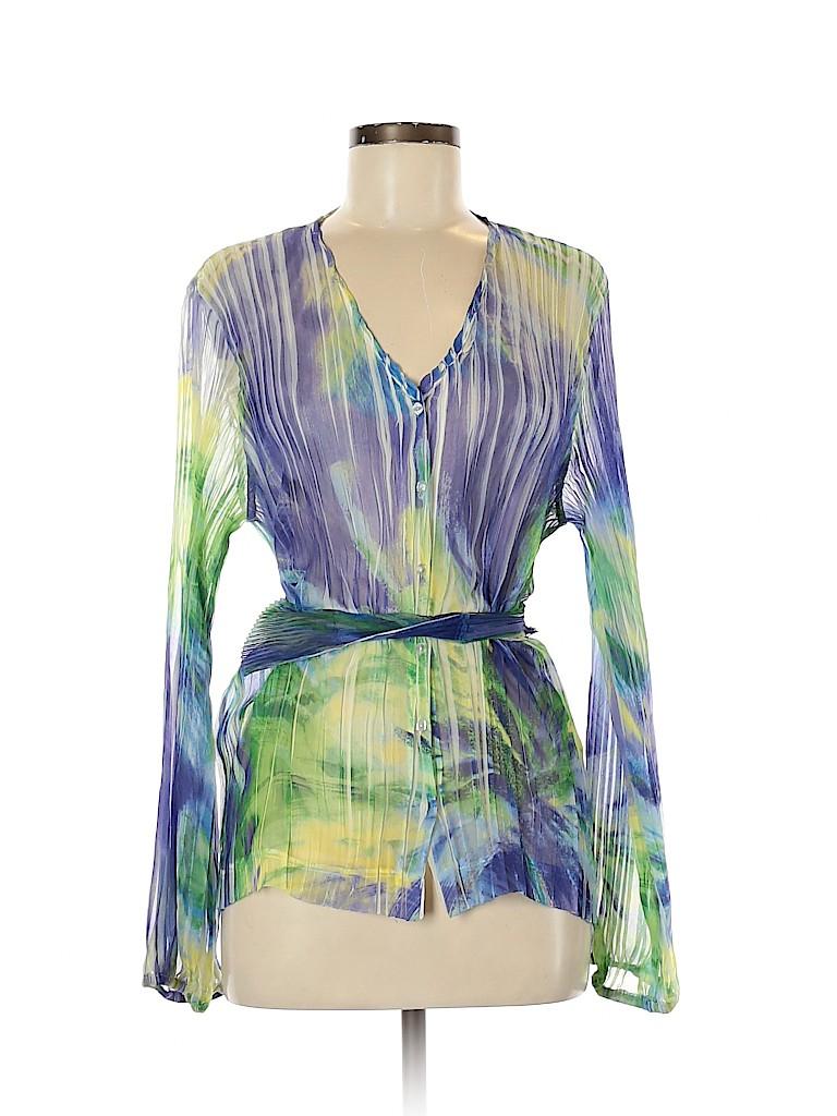 Komarov Women Long Sleeve Blouse Size M
