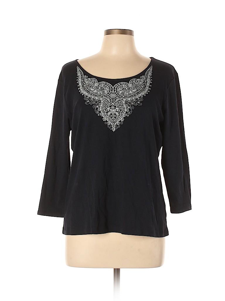 Emma James Women Long Sleeve Blouse Size XL
