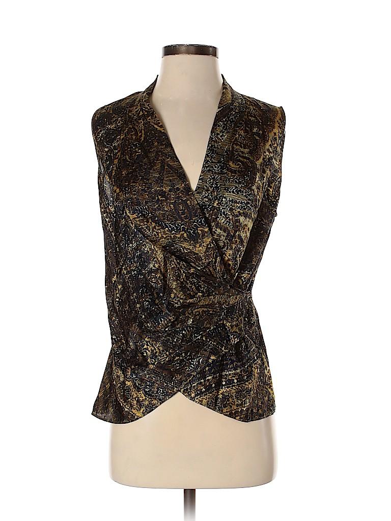 Lafayette 148 New York Women Sleeveless Silk Top Size 4