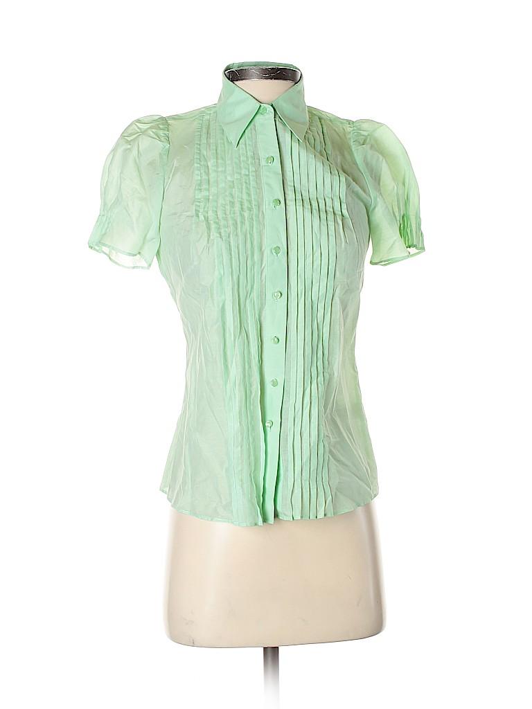 Banana Republic Women Short Sleeve Button-Down Shirt Size XS