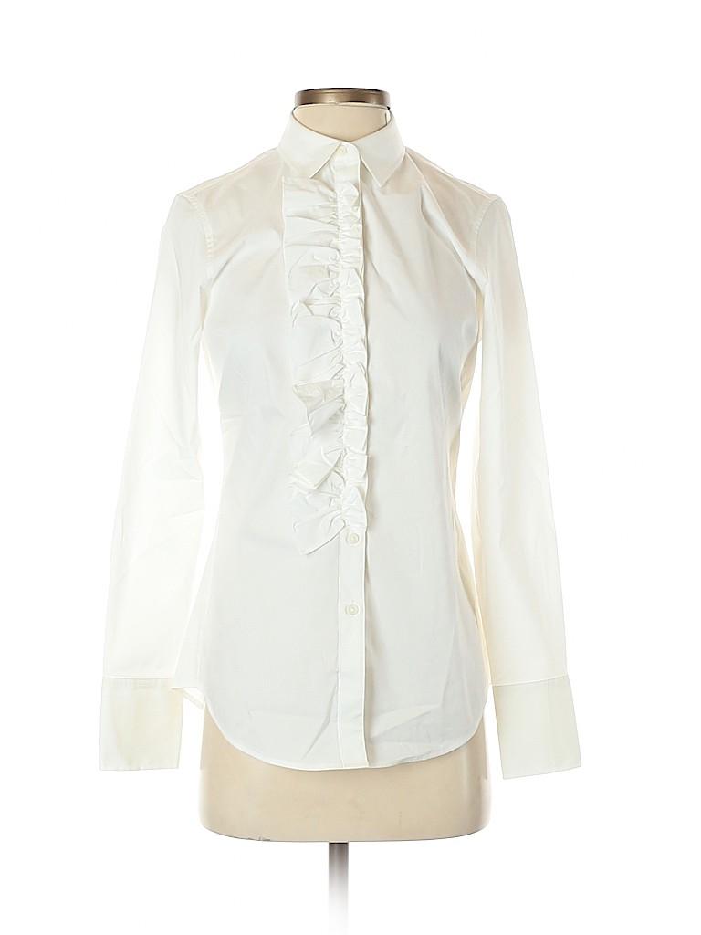 Banana Republic Women Long Sleeve Button-Down Shirt Size 2