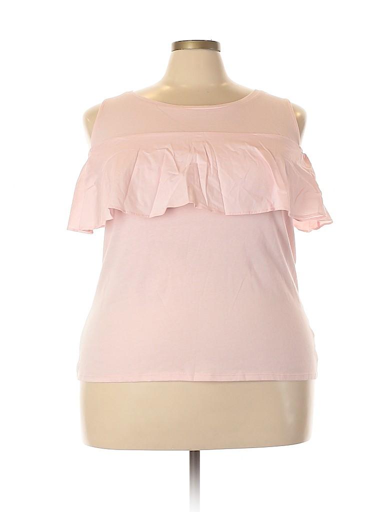 Lane Bryant Women Short Sleeve Top Size 18 - 20 Plus (Plus)