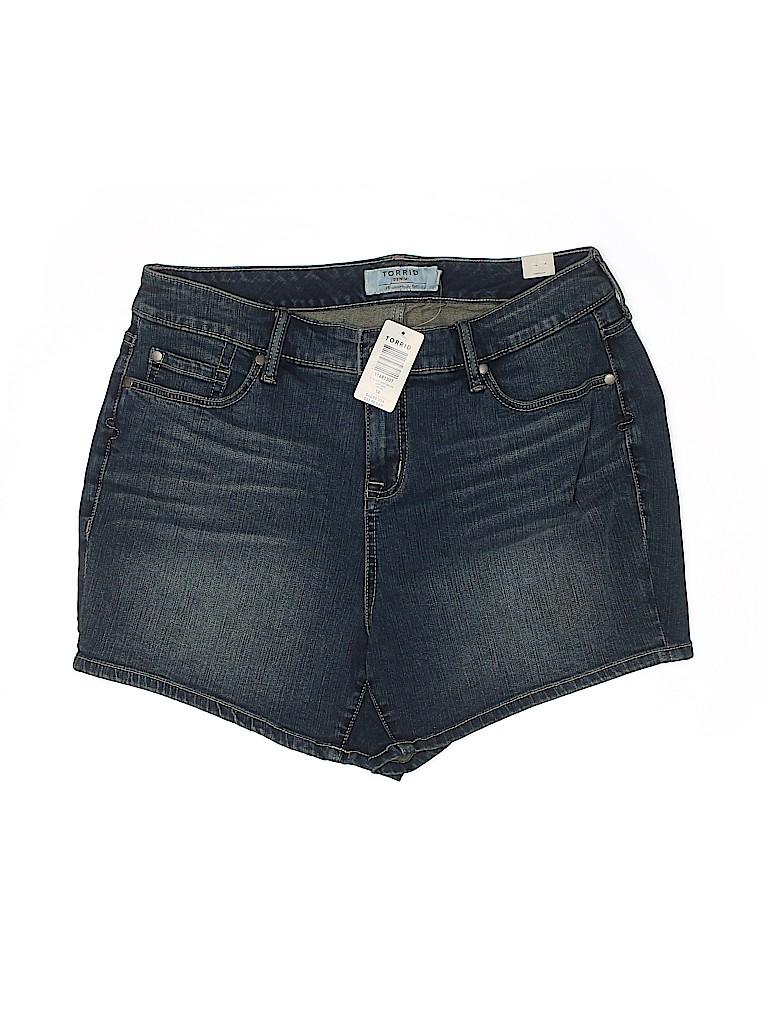 Torrid Women Denim Shorts Size 28 (Plus)