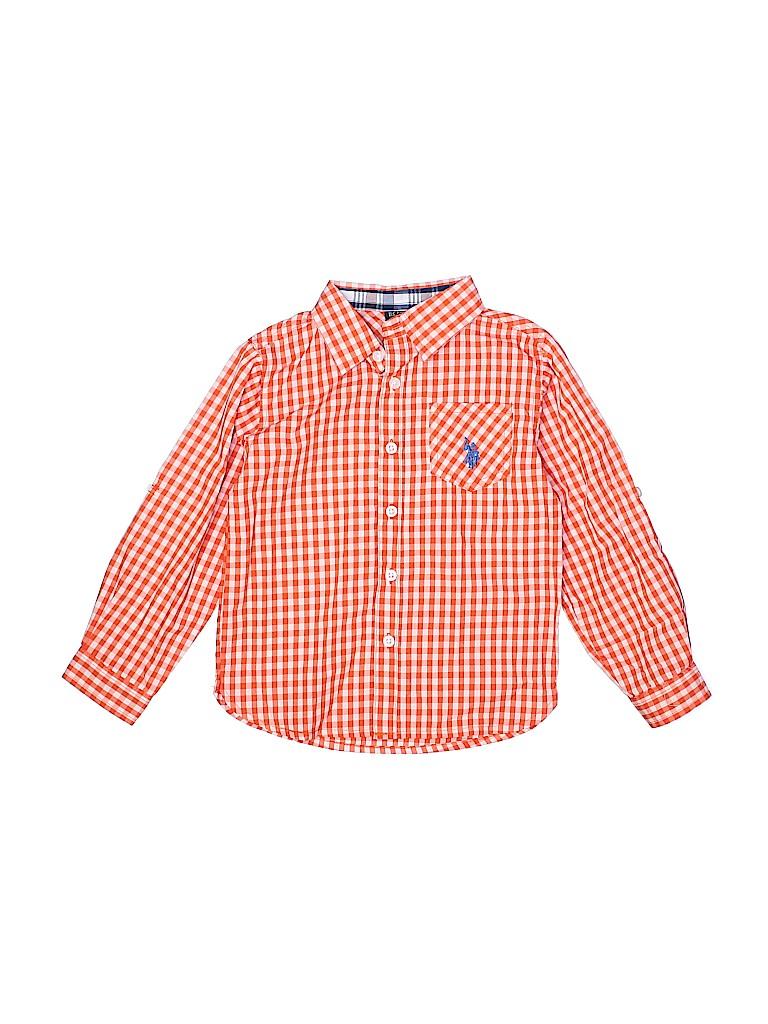 U.S. Polo Assn. Boys Short Sleeve Button-Down Shirt Size 5