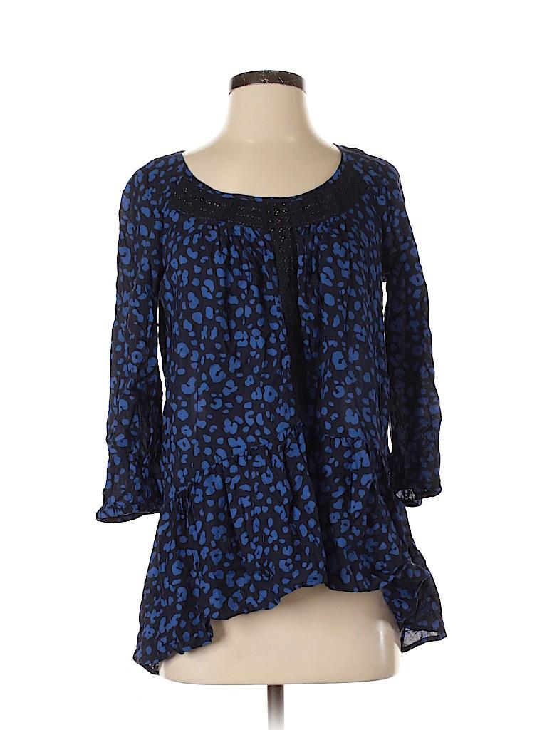 HD in Paris Women 3/4 Sleeve Blouse Size XS