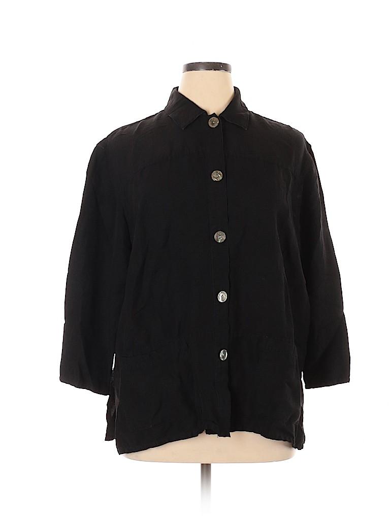 Style&Co Women Long Sleeve Button-Down Shirt Size 16W