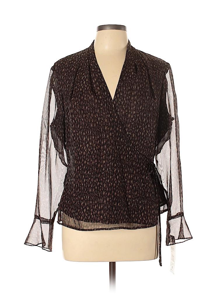 Donna Ricco Women Long Sleeve Blouse Size 12