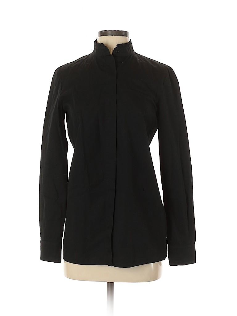 Cedric Charlier Women Long Sleeve Button-Down Shirt Size 6