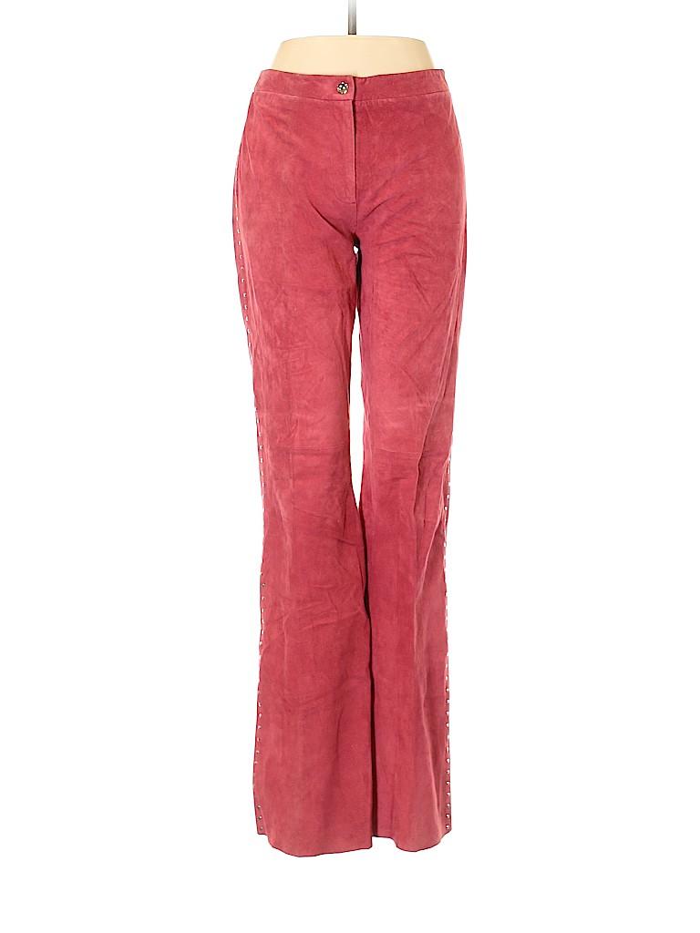 BCBGMAXAZRIA Women Leather Pants Size 8