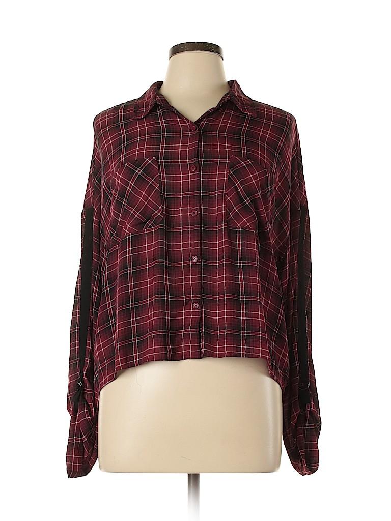 Jack by BB Dakota Women Long Sleeve Blouse Size L