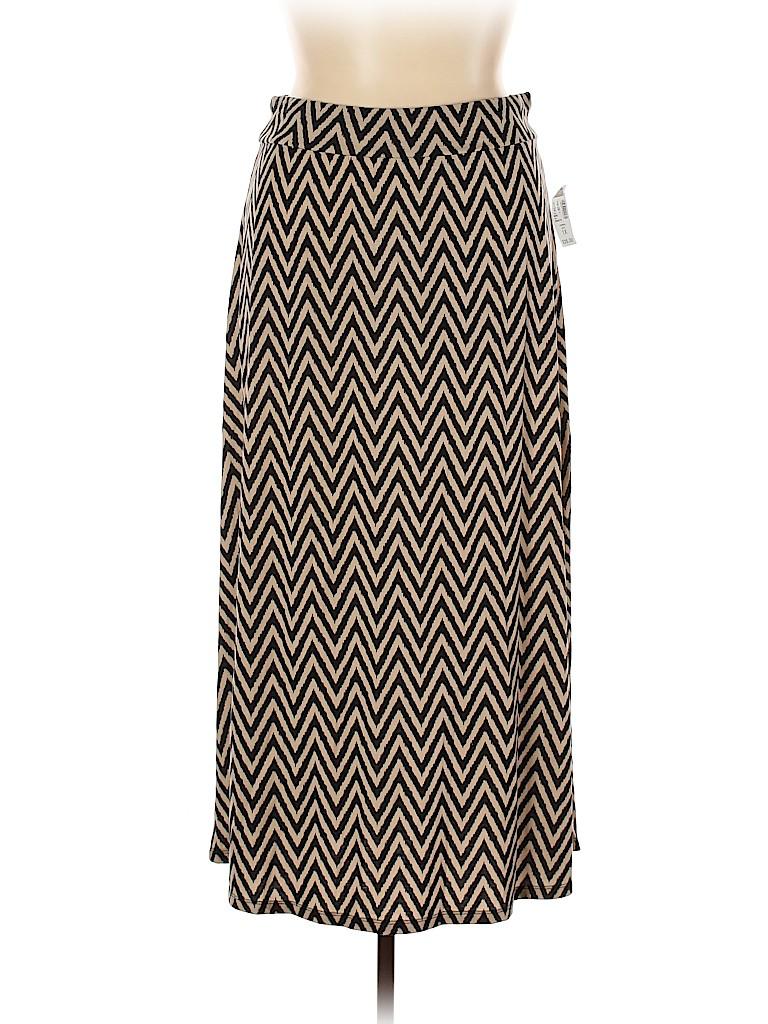 Roz & Ali Women Casual Skirt Size 1X (Plus)