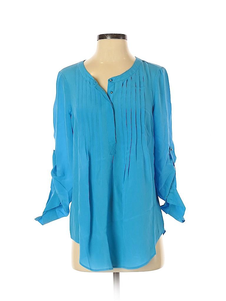 Daniel Rainn Women Long Sleeve Silk Top Size S