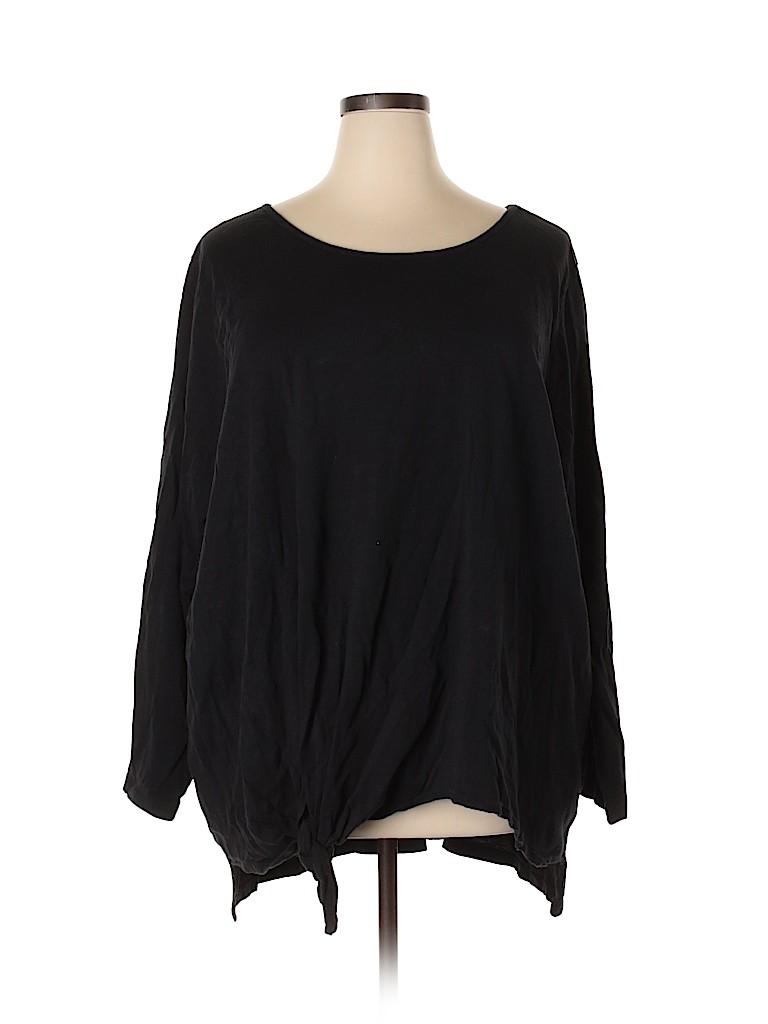 Woman Within Women Long Sleeve T-Shirt Size 4X (Plus)