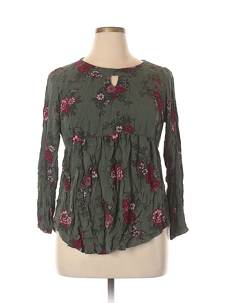 Torrid Women Long Sleeve Blouse Size Lg Plus (0) (Plus)