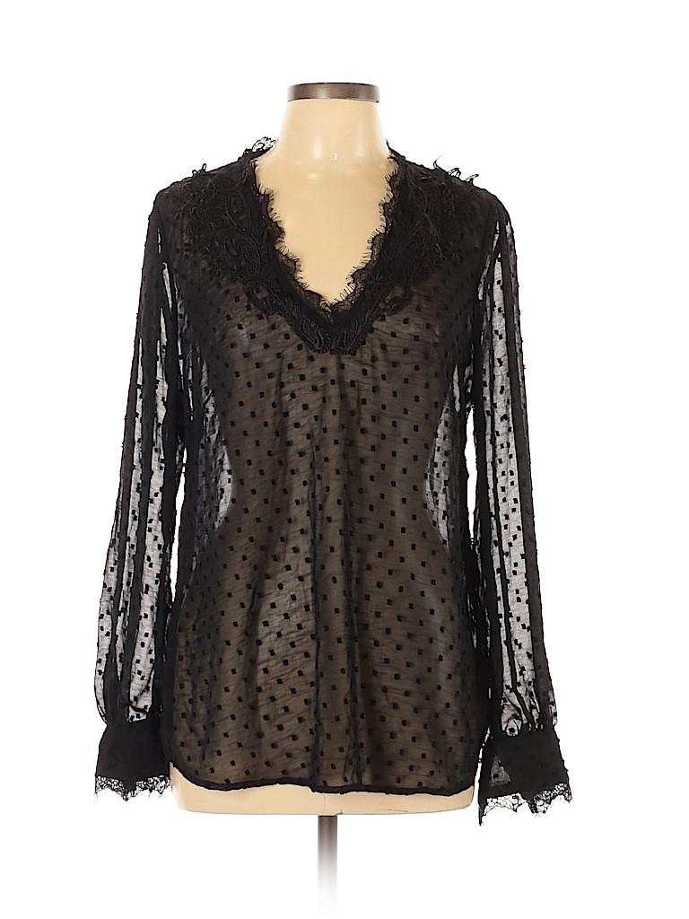 BCBGMAXAZRIA Women Long Sleeve Blouse Size L