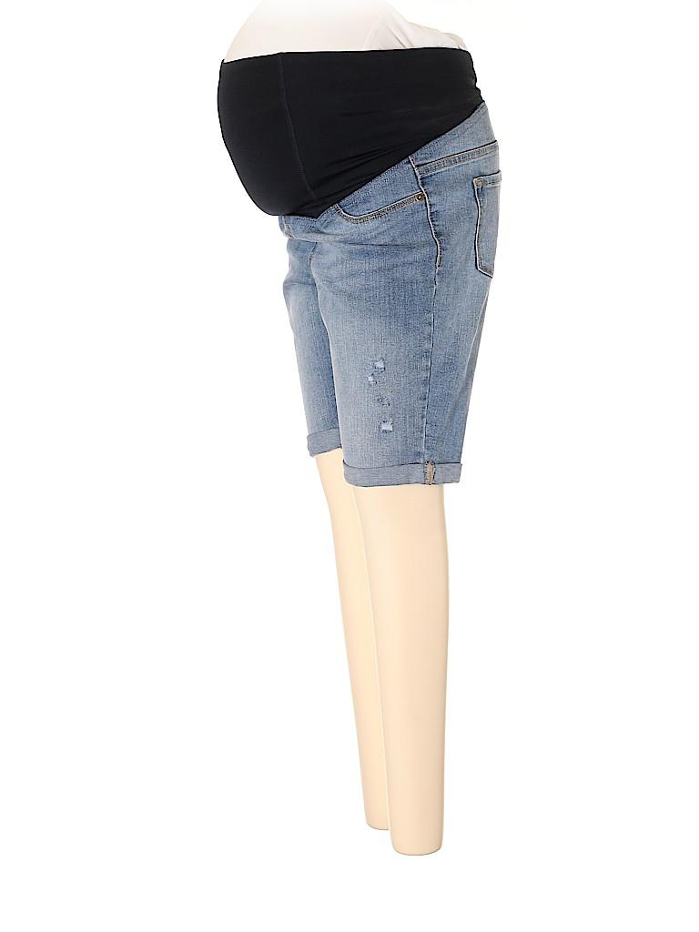 BeMaternity by Ingrid & Isabel Women Denim Shorts Size XL Maternity (4) (Maternity)