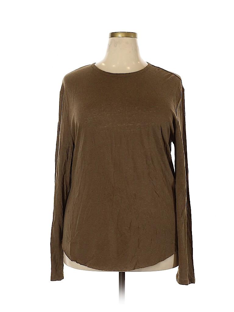 Vince. Women Long Sleeve T-Shirt Size XL