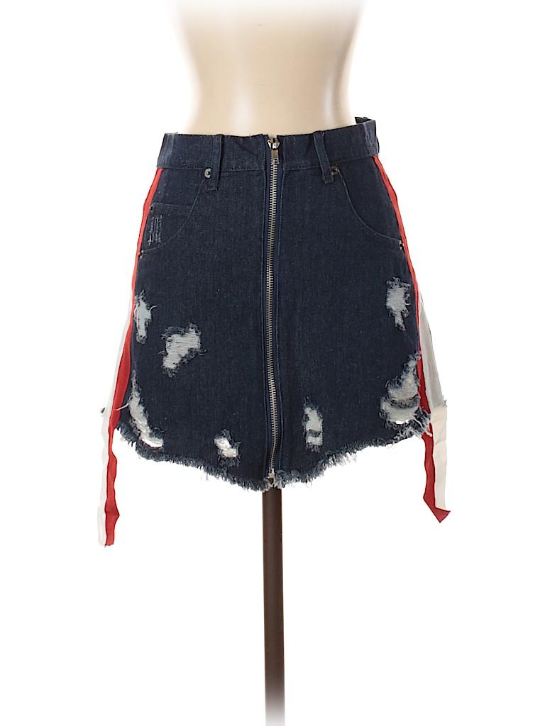 En Creme Women Denim Skirt Size S