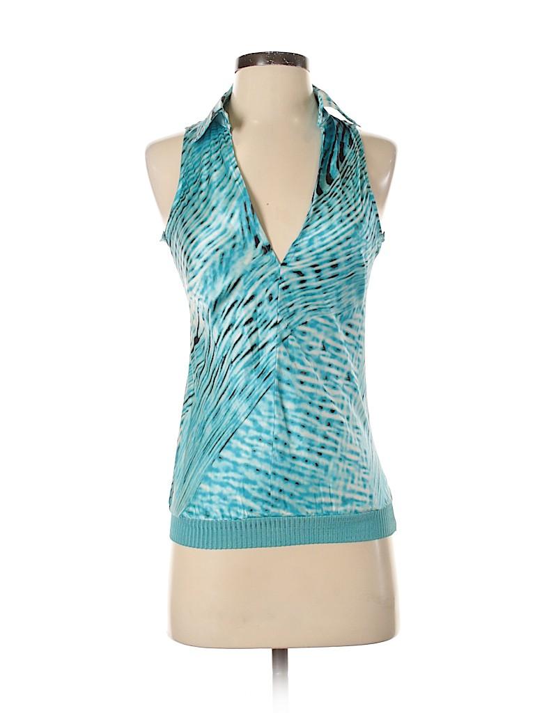 VERTIGO Women Sleeveless Silk Top Size S