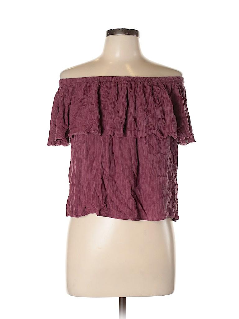 Ecote Women Short Sleeve Blouse Size L