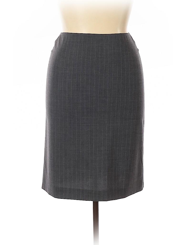 Emporio Armani Women Wool Skirt Size 44 (EU)