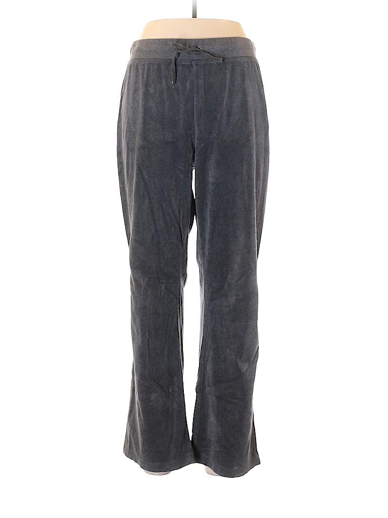 Lizwear by Liz Claiborne Women Velour Pants Size L