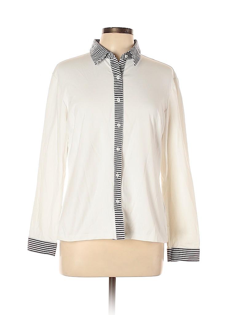 J. McLaughlin Women Long Sleeve Button-Down Shirt Size L