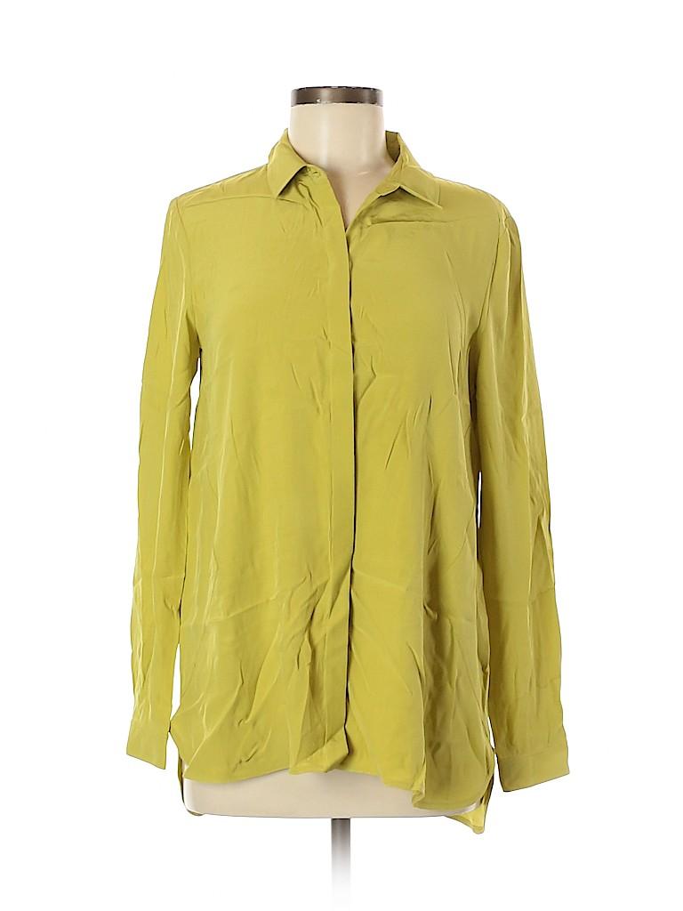 Lafayette 148 New York Women Long Sleeve Silk Top Size 6
