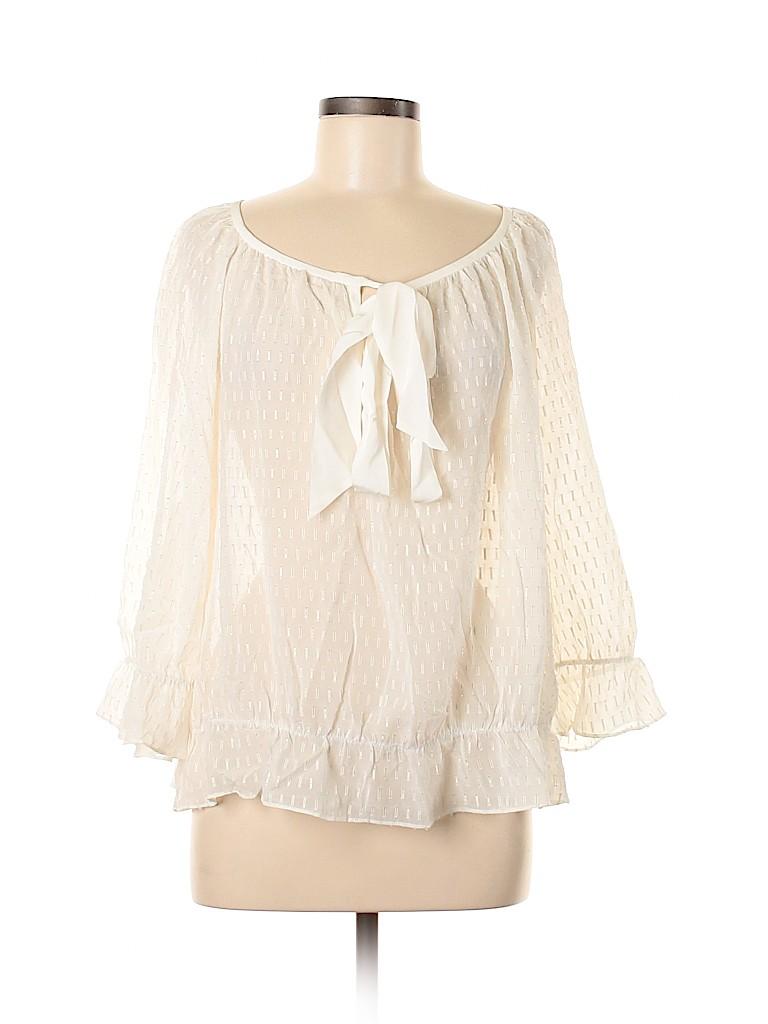 Trina Turk Women Long Sleeve Silk Top Size L